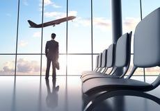 Uomo in aeroporto Fotografia Stock
