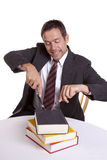 Uomo affamato per conoscenza Fotografie Stock Libere da Diritti