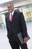 uomo africano di affari Fotografie Stock Libere da Diritti