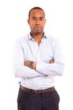 Uomo africano di affari Immagini Stock Libere da Diritti