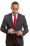 uomo africano di affari Fotografia Stock