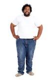 Uomo africano di peso eccessivo fotografie stock