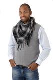 Uomo afro alla moda bello Fotografia Stock Libera da Diritti