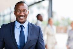 Uomo afroamericano di affari Fotografia Stock Libera da Diritti