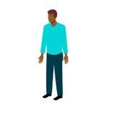 Uomo afroamericano isometrico Fotografia Stock Libera da Diritti