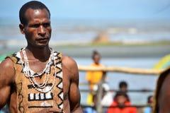 Uomo al festival tribale della maschera di raditional Immagini Stock Libere da Diritti