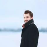 Uomo alla moda bello del ritratto Immagine Stock