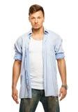 Uomo alla moda in camicia Fotografie Stock