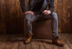 Uomo alla moda con la barba Fotografie Stock