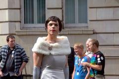 Uomo alla parata gaia di orgoglio a Manchester, Regno Unito 2010 Fotografia Stock Libera da Diritti