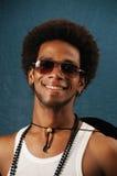 Uomo allegro dell'afroamericano Fotografie Stock Libere da Diritti