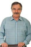 Uomo allegro di affari maturi Fotografia Stock
