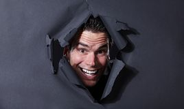 Uomo allegro felice fotografia stock