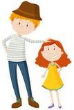 Uomo alto e breve ragazza royalty illustrazione gratis