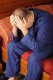 Uomo ammalato Fotografie Stock