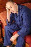 Uomo ammalato Fotografie Stock Libere da Diritti