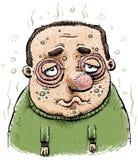Uomo ammalato del fumetto Immagini Stock