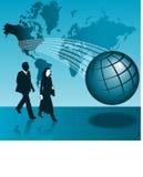 Uomo & donna di affari globali royalty illustrazione gratis