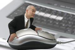 Uomo & mouse Immagini Stock Libere da Diritti