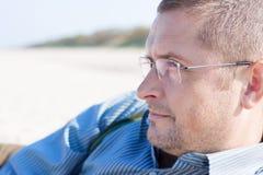Uomo 40 anni di ritratto Immagini Stock Libere da Diritti