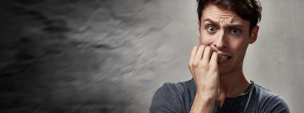 Uomo ansioso Fotografia Stock Libera da Diritti