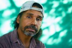 Uomo ansioso del latino con l'espressione preoccupata triste del fronte Fotografia Stock Libera da Diritti