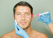 Uomo antinvecchiamento Fotografia Stock Libera da Diritti