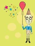 Uomo anziano al partito! Fotografie Stock Libere da Diritti
