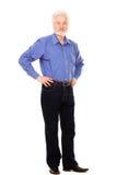 Uomo anziano bello con la barba Immagini Stock Libere da Diritti