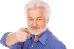 Uomo anziano bello con la barba Fotografia Stock