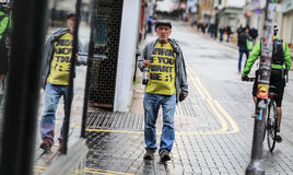 Uomo anziano a Brighton Immagine Stock