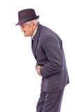 Uomo anziano con dolore di stomaco Fotografia Stock Libera da Diritti