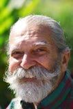 Uomo anziano con una barba Immagine Stock Libera da Diritti