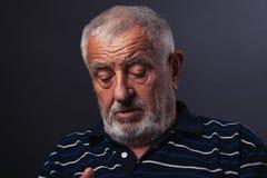 Uomo anziano corrugato 2 Immagini Stock Libere da Diritti