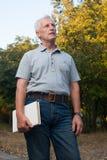 Uomo anziano dai capelli bianco scarno Immagine Stock Libera da Diritti