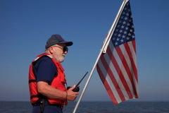 Uomo anziano del mare Fotografie Stock