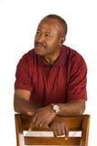 Uomo anziano dell'afroamericano fotografie stock libere da diritti
