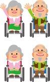 Uomo anziano della sedia a rotelle Fotografia Stock Libera da Diritti