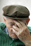 Uomo anziano depresso Fotografia Stock Libera da Diritti