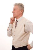 Uomo anziano di affari Fotografia Stock