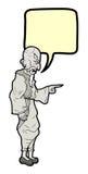 Uomo anziano di conversazione illustrazione di stock