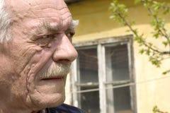 Uomo anziano di disperazione Fotografie Stock Libere da Diritti