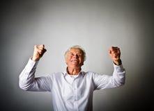 Uomo anziano di esultanza Fotografia Stock