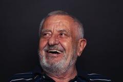 Uomo anziano di risata 2 Fotografia Stock Libera da Diritti
