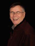 Uomo anziano di risata Fotografia Stock