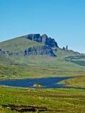 Uomo anziano di Storr, isola di Skye Immagini Stock