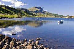 Uomo anziano di Storr sull'isola di Skye in Scozia Immagini Stock