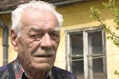 Uomo anziano di tristezza Fotografia Stock Libera da Diritti