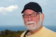 Uomo anziano e mare Fotografie Stock