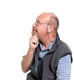 Uomo anziano espressivo Fotografie Stock Libere da Diritti